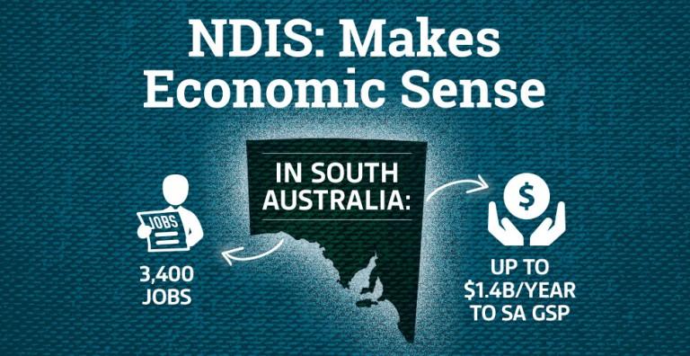 SA NDIS economic benefits graphic