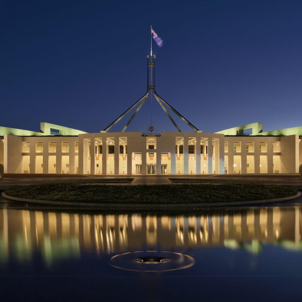 Parliament House at dusk