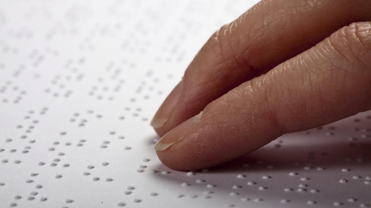 Blindness - reading braille