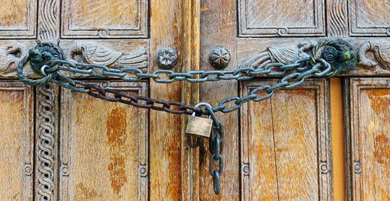 Locked up house